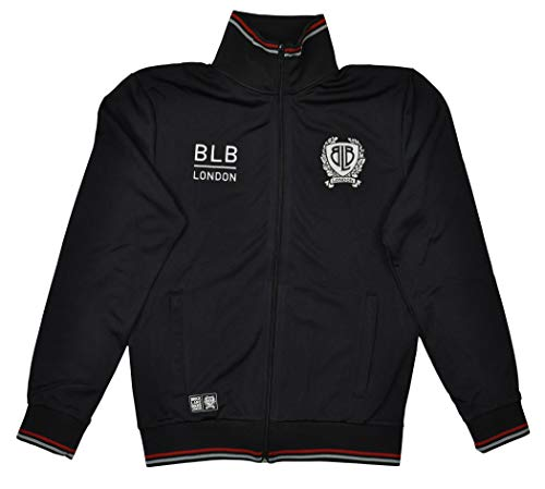 Brick Lane Bikes London BLB Tripped Zip Track Top Men Black Größe M 2017 Hoodie -