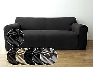 Bellboni Housse de canapé, revêtement de canapé, housse stretch biélastique, pour de nombreux canapés 2 places courants, anthracite