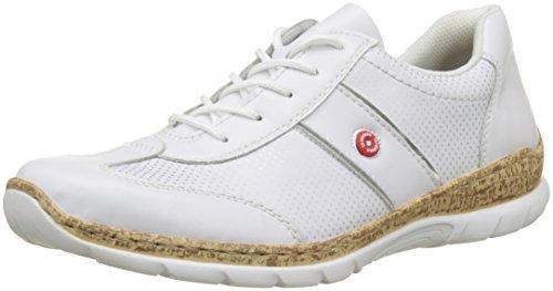 Rieker Damen N4220 Sneaker Weiss/Silber/Argento, 38 EU