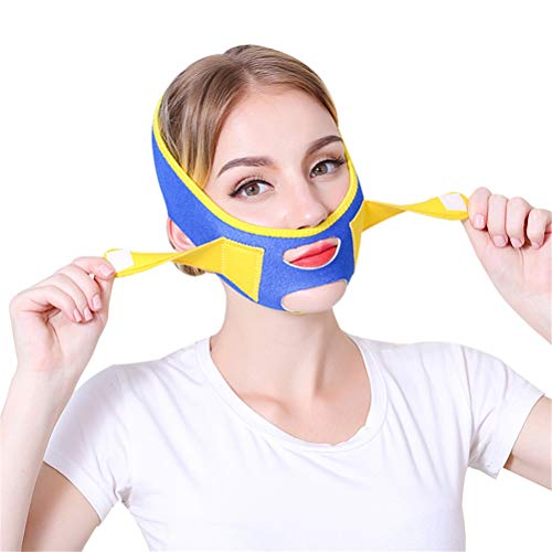 GFYWZ Gesichtslifting Slimmerbelt, V-Linie Band Hals Kompressions Gesicht Abnehmen Bandagen Ajustable Firming Gesichtspflege Lifting Wrap (Gesichts-band)