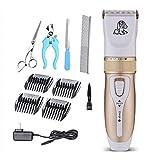 HUQQZ Pet Grooming Hair Dryer Recortadores para Mascotas: Sistema Recortador Pelo para Animales Sin Cuerda, Recargable, Eléctrico, Eléctrico,Bajo Ruido