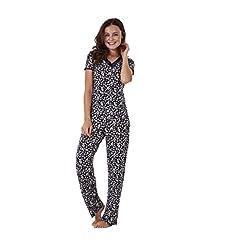 96e2cab80b3 BHS Ladies Short Sleeve Floral Print PJ Set Stretch Nightwear .
