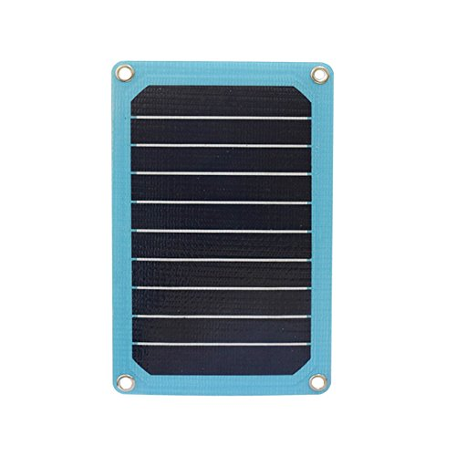 XINPUGUANG 5W/5V ETFE solar panel cell module USB output Portable Solar charger for cellphone Camera PSP ourdoor charge Data lines (blue) (Solar-panel-kit 5w)