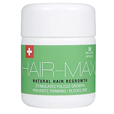 HAIR-MAX® - Hair Growth Supplement | Natural UK Hair Growth Supplement | Swiss Formulated To Increase Hair Growth, Block DHT & Prevent The Thinning Of Hair | Clinically Developed | 30 x 1000mg Tablets by Valentine-Pharma