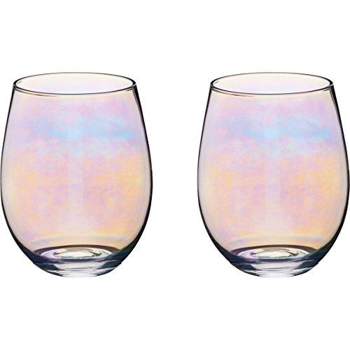 Kitchen Craft BarCraft Tumbler Trinkgläser mit irisierendem Regenbogenschimmer, 600 ml, Glas,...