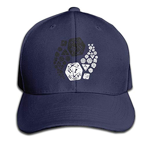 Dungeons and Dragons Yin Yang Good and Evil DND Classic Cap Hats Fitted Black Baseball Cap