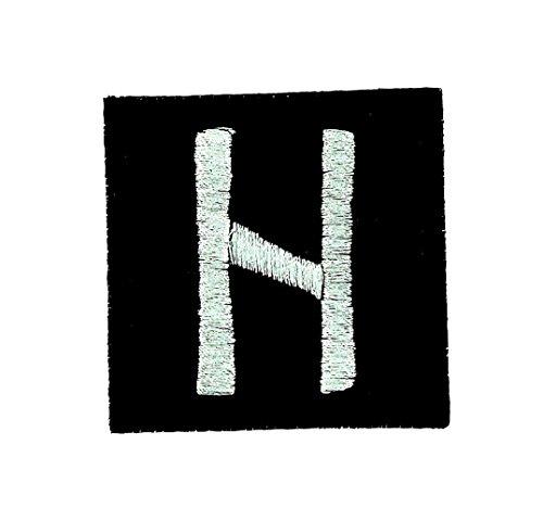 Patch stemma ricamato cotone Viking Odin stregoneria Runa alfabeto Hail