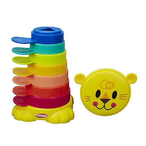 Playskool - Kit León Cubos Apilables, +9 meses (Hasbro B0501EU4)