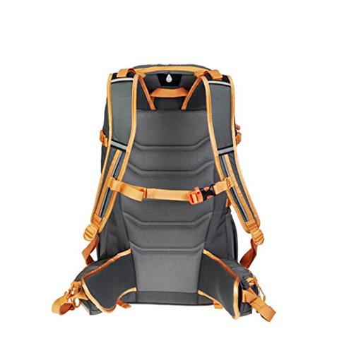 HWLXBB Outdoor Bergsteigen Tasche Männlich Und Weiblich 38L Wasserdichte Mehrzweck-Bergsteigen Tasche Wandern Camping Bergsteigen Rucksack 2*