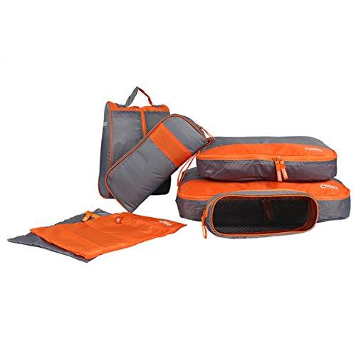 FunYoung Valigia organizzatore kit di sacchetti di 7 pezzi borsa da viaggio abbigliamento lavare borse per viaggiare selezione di colore casa