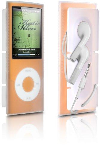 DLO 71027/10 Silikon-Tasche mit Kopfhörerlösung für iPod Nano 4G klar Apple Ipod Nano Docking Station