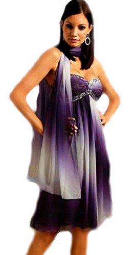 Chiffon-Kleid Abendkleid mit Schal lila von Laura Scott Evening Gr. 38