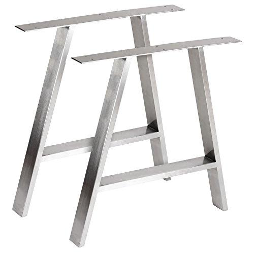 Moderne Stahl-kaffee-tisch (Hartleys Tischbeine in A-Form im Bauhaus-Stil - Verschiedene Größen & Farben)