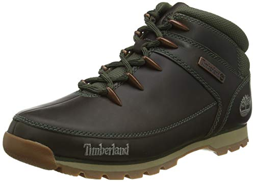 Timberland Euro Sprint Hiker Waterproof, Zapatillas Chukka para Hombre, Verde (Dk Green Full Grain), 46 EU