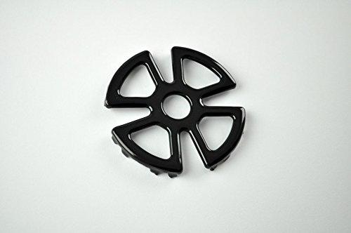 Cinzia casa riduttore fornelli cm 12,5 tondo nero smaltato