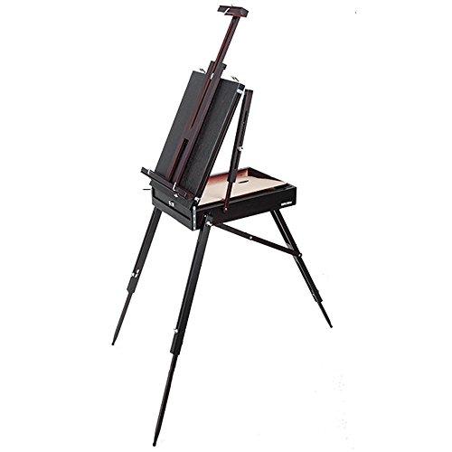 vholz Klapp Öl Staffelei Malen Sie den Farbkasten Portable mobile Öl Staffelei Sketch Zeichnung Skizze Rahmen 40 * 56 cm Staffeleien (Kreide-brett-menü)