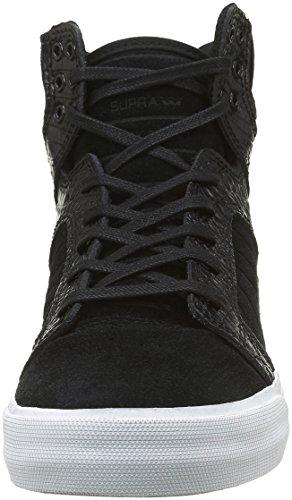 Supra Skytop, Sneakers Hautes mixte adulte Noir (Black/Croc White)