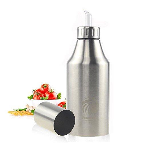 Distributeur de Huile Pot en acier inoxydable anti-fuite Bouteille Distributeur d'Huile ou de vinaigre de l'huile d'olive Sauce ustensile de cuisine -Novata (1000ML)