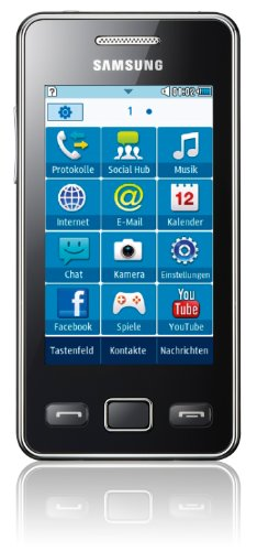 Samsung Mobile Samsung Star II S5260 Smartphone (7,62 cm (3 Zoll) Touchscreen, 3MP Kamera, MP3-Player, WLAN, Bluetooth, t9-Trace) onyx-black