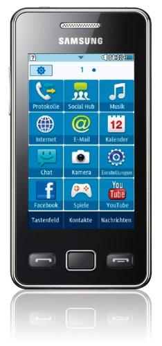 Samsung Mobile Samsung Star II S5260 Smartphone (7,62 cm(3 Zoll) Touchscreen, 3MP Kamera, MP3-Player, WLAN, Bluetooth, t9-Trace) onyx-black