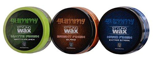 Fonex Styling Pack: Gummy Styling Wax Matte Finish, Bright Finish & Hard Finish (je150 ml) | Haarwachs mit & ohne Glanz | Haarwax für Männer, Herren | Hair wax men für kurze & lange Haare