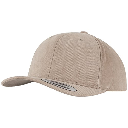 Flexfit Brushed Cotton Twill Mid-Profile Kappen, Khaki, one Size Brushed Cotton Twill Cap