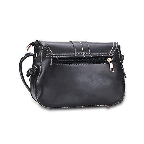 Baodan circa la borsa a tracolla moda thread (colori assortiti)-marrone Nero