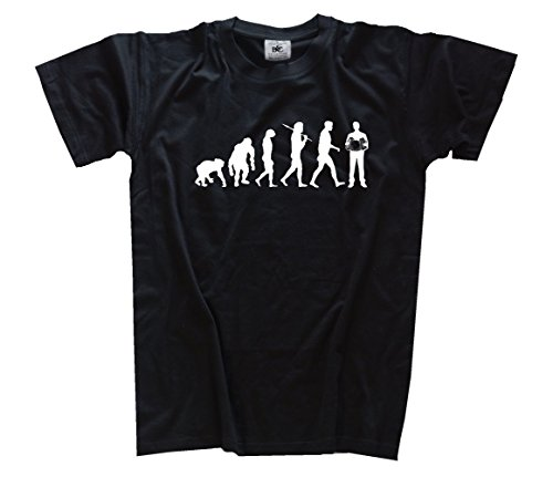 Shirtzshop Evolution Akkordeon Kids Shirt Kinder-Shirt Schwarz 146