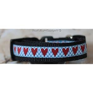 Hundehalsband bayerische Herzerl, klein