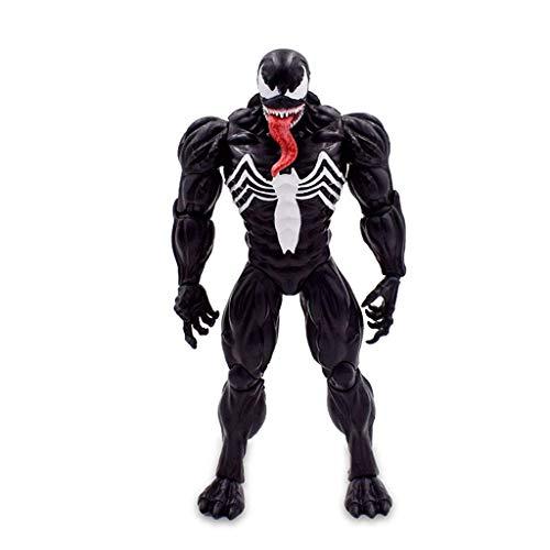 JTWMY Modell Puppe Black Venom tödlichen Wächter Venom Spider-Man Toten Feind Bösewicht Gelenke können Hände Spielen, um 17cm Boutique zu Spielen (Lego Spider Man Black)
