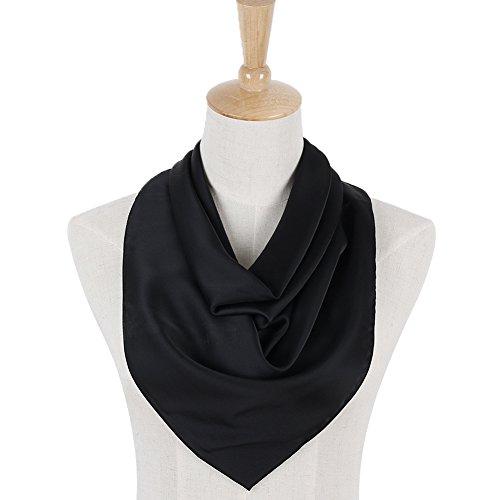 PB-SOAR Solid Color Head Neck Square Scarves Bandana Neckerchief 70cm x 70cm, 12 Colours Available
