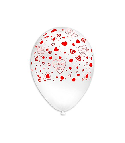 Irpot - 100 palloncini in lattice i love you bianchi glo-25w addobbi festa amore