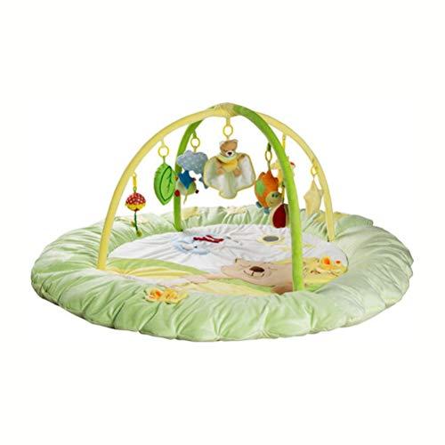 RUG ZI LING Shop- Kid Spielmatte, Ungiftig Klappbodenmatte Schaum Große Fliesen Wasserdichte Baby Krabbeln Matte Für Junge Mädchen, dick (140x140x60 cm) (Farbe : Grün)
