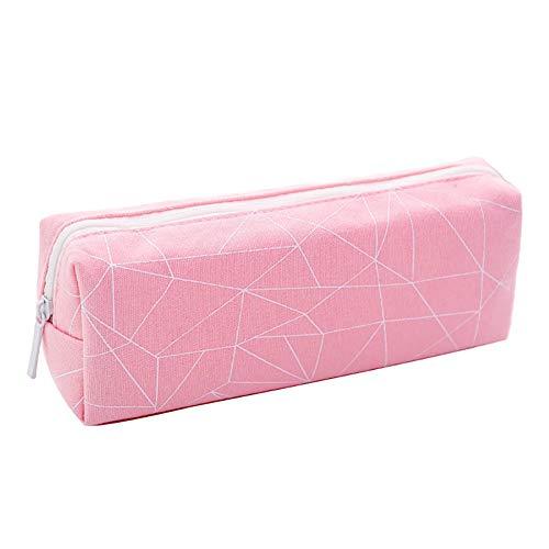 Hosaire 1x Kreativer Federmäppchen Federtasche Schreibwaren Mäppchen Pencil Tasche Kosmetiktasche Geschenk (Rosa)