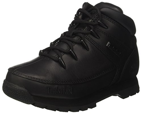 Timberland Euro Sprintblack Smooth, Bottes Chukka Mixte Enfant, Noir (Black Smooth), 37 EU