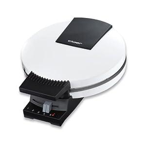 Cloer 120 Waffelautomat für kuchenartige XXL-Waffeln / 1200 W / Backfläche mit 24 cm Durchmesser / Backampel