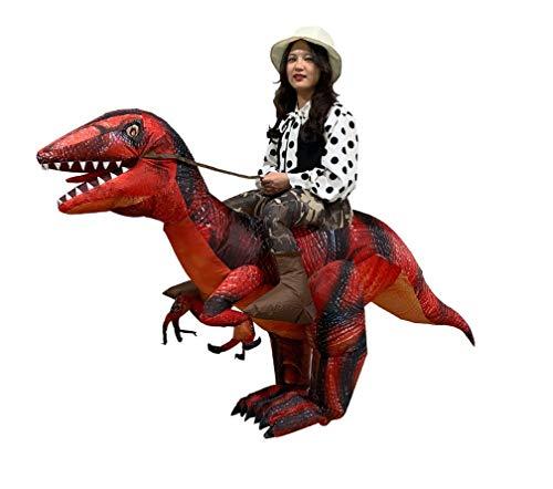 LWTOP Aufblasbare Kleidungsstücke, Lustige Weihnachts-Aufblasbare Kleidung Raptor Tyrannosaurus Dinosaur Inflatable Clothes Cartoon Doll (Raptor-kostüm)