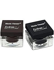Ucanbe Cosmetics 3 in 1 Eyebrow & Eyeliner & Mascara Makeup Set black and dark brown