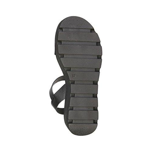 Ana Lublin - SELMA Sandali Di Piattaforma Donna Con Cinghia Regolabile Alla Caviglia Altezza Sola: 6 cm Nero
