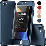 Funda iPhone 7 360 Grados con (2-Piezas) Cristal Templado para Apple iPhone 7, Carcasa Integral con Protector de Pantalla - Protección Completa Delantera y Trasera con Vidrio Templado (Oro Rosa)
