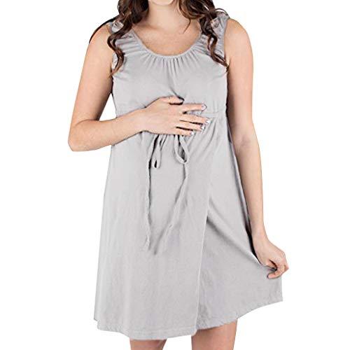 Prendas mujer Premamá Moderna Corto Fruncido Vestido de Maternidad Gasa de Embarazada Floral Estampado Vestidos por Yesmile