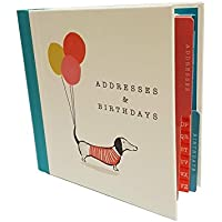 The Artfile Address And Birthday Book - Sausage Dog Design