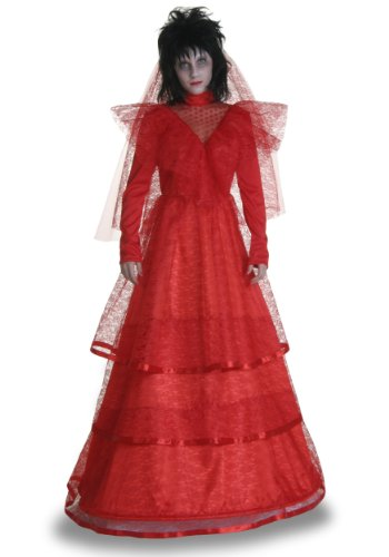 Womens Red Gothic Wedding Dress Fancy dress costume. Sizes 4 to 16