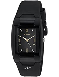 Sonata Super Fibre Analog Black Dial Men's Watch -NJ7920PP13C