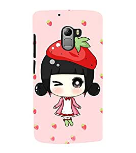 Fuson Premium Back Case Cover Cute Winkling girl With Brown Background Degined For Lenovo K4 Note