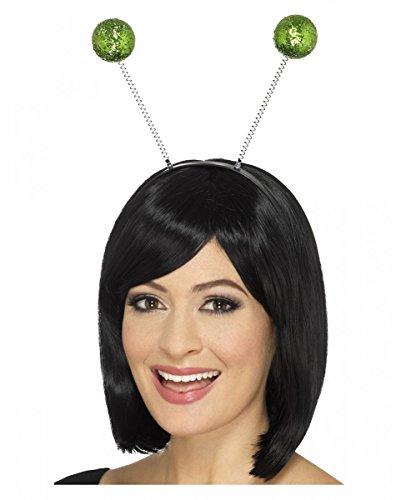 (Grüner Glitzer Bommel Haarreif für St. Patricks Day & Alien Kostüme)