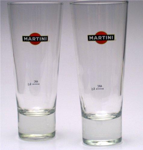 6 MARTINI Longdrink Gläser exclusive Gastro Edition