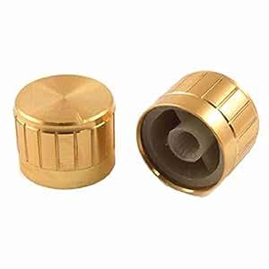TTcity 5 Stück 23mm x 17mm Goldfarbe Aluminium-Knöpfe für Verstärker