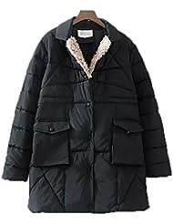QIANQIAN Carteras de damas XL largo doble espesan fino más fertilizante en invierno abajo chaqueta de abrigo , 5xl , black