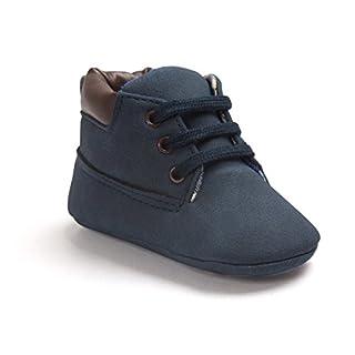Baby Schuhe Für 0-18 Monate, Auxma Babyjungen weiche lederne Schuhaufladungen Prewalker Schuhe (13(12-18M), Marine)